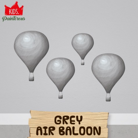 AIR BALOON GREY - JUNGLE KIDS SERIES WALL DECAL