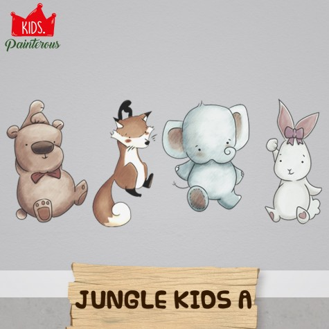 ANIMAL JUNGLE KIDS A - JUNGLE KIDS SERIES WALL DECAL