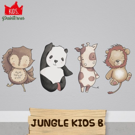 ANIMAL JUNGLE KIDS B - JUNGLE KIDS SERIES WALL DECAL