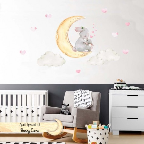 BUNNY CARE - PAINTEROUS KIDS WALL DECAL