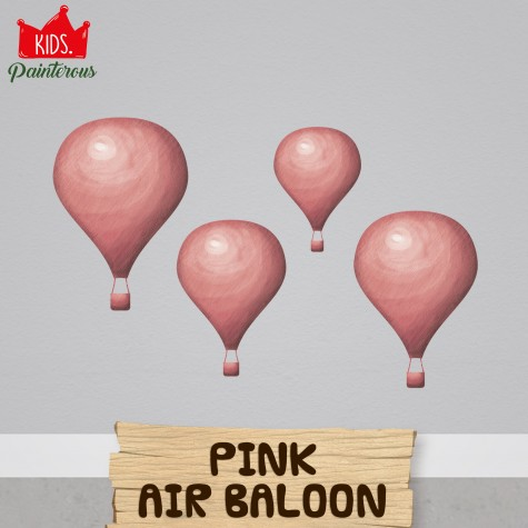 AIR BALOON PINK - JUNGLE KIDS SERIES WALL DECAL
