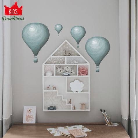 AIR BALOON BLUE - JUNGLE KIDS SERIES WALL DECAL